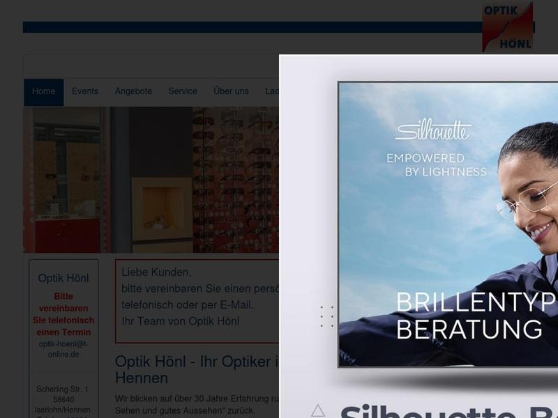 Screenshot von http://www.optik-hoenl.de/